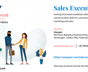 Unpaper - Sales Executives Walk-in Interview
